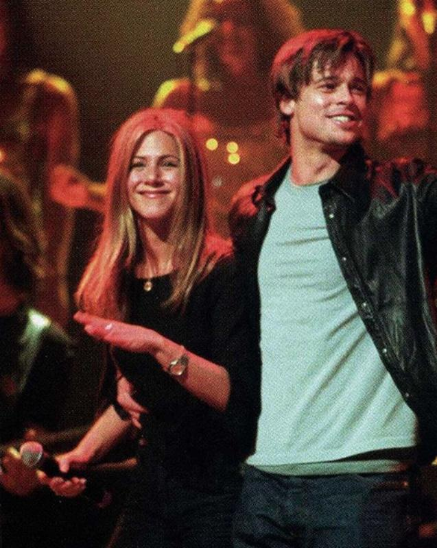 Jennifer Aniston And Brad Pitt At A Sting Concert, 1999