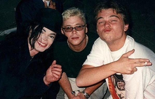 Michael Jackson, Kevin Connolly And Leonardo DiCaprio In 1998
