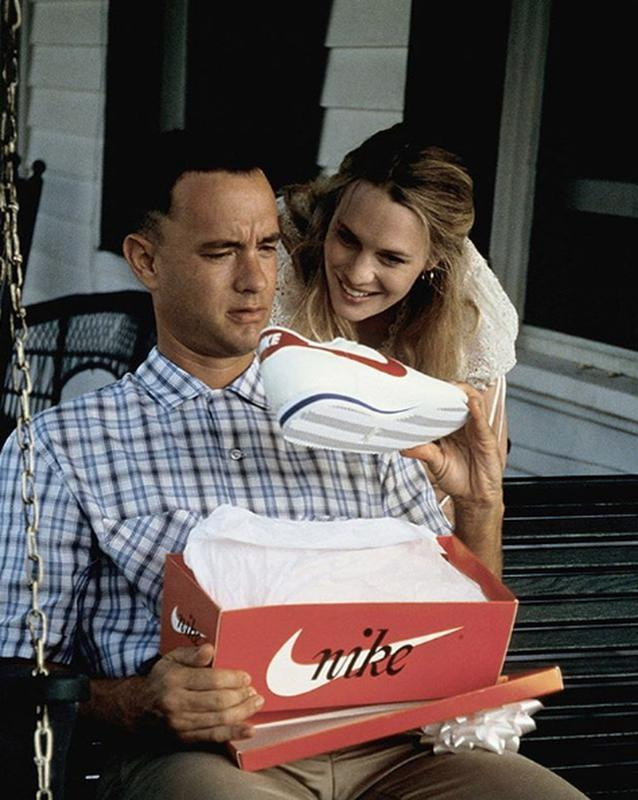 Forrest Gump With Nike Cortez Shoes
