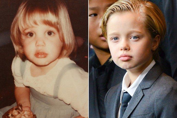 Angelina Jolie & Shiloh Jolie Pitt At Age 7