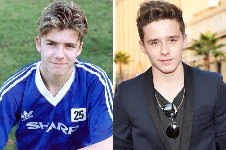 David Beckham & Brooklyn Beckham At Age 16