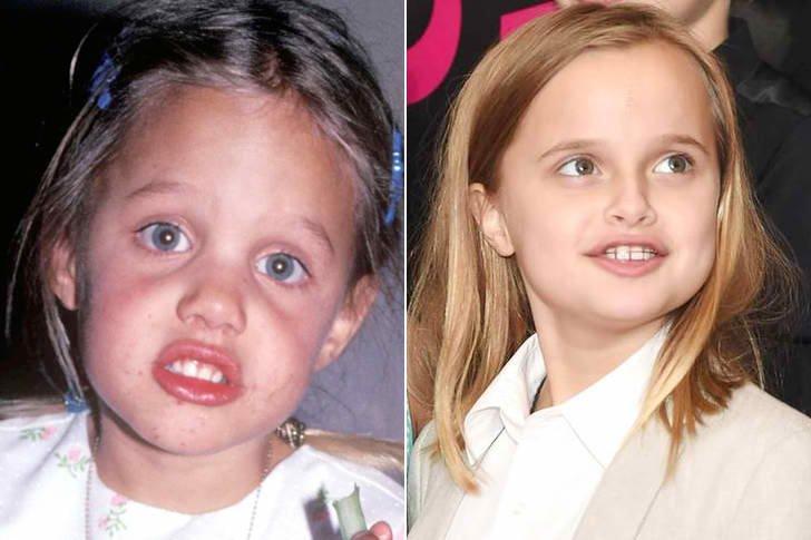 Angelina Jolie & Vivienne Marcheline Jolie Pitt At Age 7